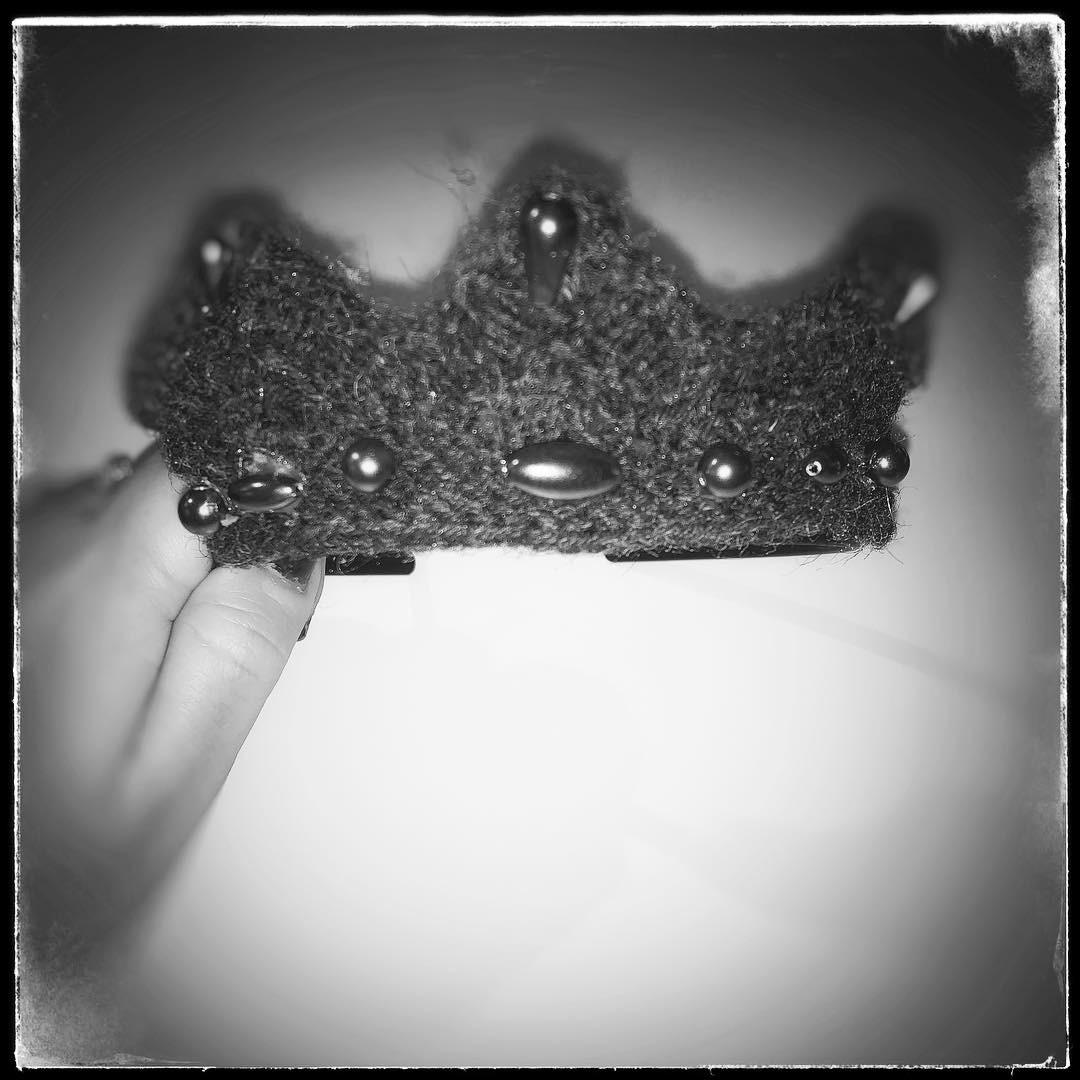Min strikkede tiara